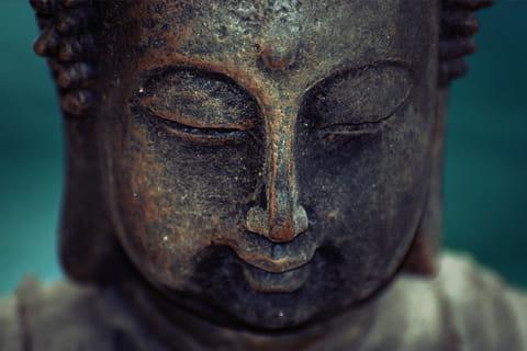 bouddha en pierre jardin