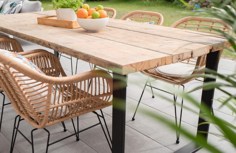 matière table de jardin